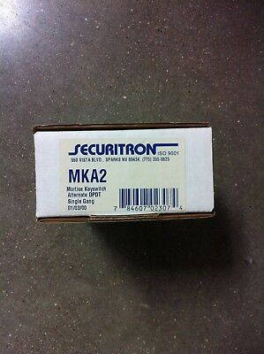 Securitron MKA2 Single-Gang Alternate DPDT Mortise Keyswitch