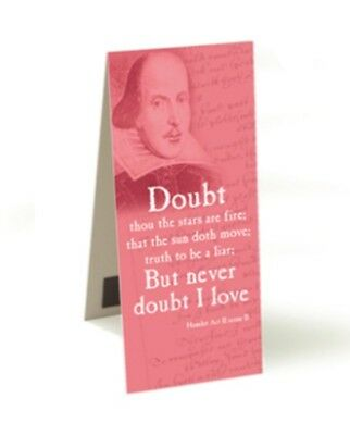 NEW 'Never Doubt' Shakespeare Magnetic Bookmark - 10.5cm x 4.5cm