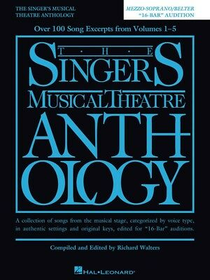 "The Singer's Musical Theatre Anthology ""16-Bar"" Audition Sheet Music Song Book"