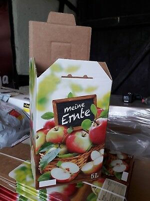 10x 5L Liter Karton Box Apfel Design Vitop Automatikboden Saft Most Obst in Bag