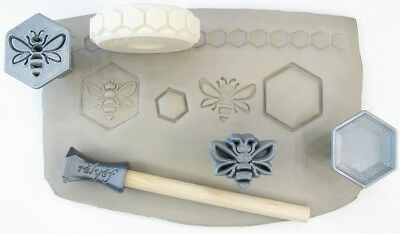 Pottery texturing ceramic clay tools: Rélyéf bee set