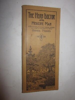 1930's The Herb Doctor and Medicine Man booklet Botanical Medicines