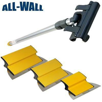 "TapeTech Drywall Finish Smoothing Blade Set: 7-10-12"" Knives + Extension Handle"
