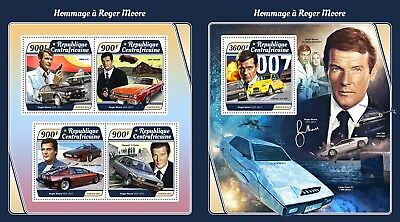 Z08 IMPERF CA17515ab Central Africa 2017 Roger Moore MNH ** Postfrisch