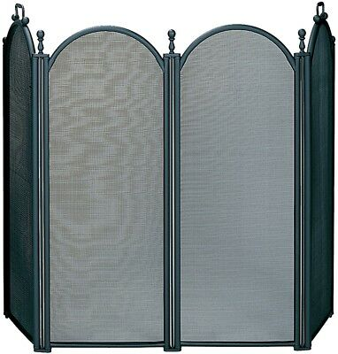 UniFlame 4-Fold Black Screen With Woven Mesh