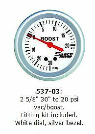 "Speco 2 5/8"" ( 66mm ) 30"" to 20 psi Vacuum / Boost Gauge P/N 537-03"