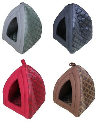 Igloo Pet House Cat Bed Dog Bed Pet Warm Basket Bed Cushion with Fleece Lining
