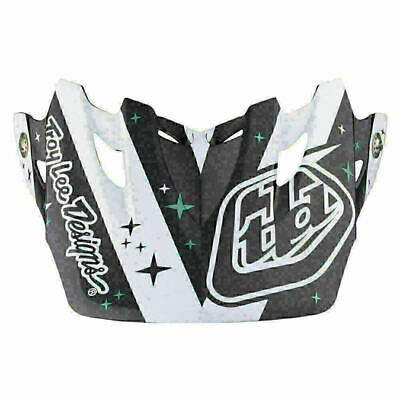 Troy Lee Designs Tld Se3 Helmet Visor Phantom White Mx Motocross Dirt Bike Moto