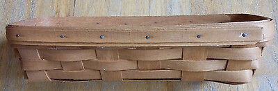 Longaberger Baskets 1992 Small Bread Basket  (Initialed/Dated) ONE OWNER!