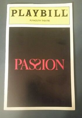 Passion Playbill, Plymouth Theatre, 29 July 1994 Stub, Donna Murphy, Jere Shea
