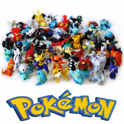 24pcs/lot Mini 2-3cm random Pearl action Figure Figurine Lots Pokemon PVC Toy