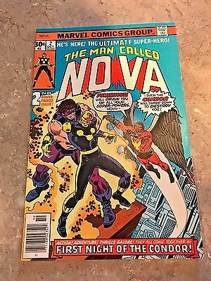 The Man Called Nova # 2 (1976 Marvel) The First Night of ... the Condor! VF/NM