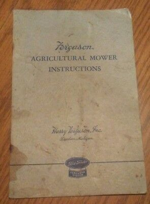 Ford Tractor FERGUSON AGRICULTURAL MOWER Instructions 9N 2N sickle mower