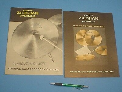 Vintage 1963-64 And 1969 Zildjian Cymbals Catalog
