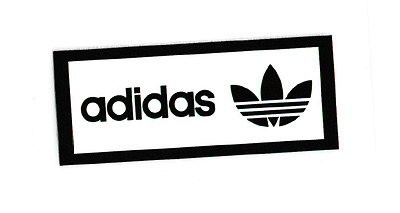 iron on transfer heat adidas logo 2cm x 4.5cm DIY your clothes