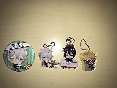 Black Butler Book Of the Atlantic Key-Chains: Sebastian Michaelis, Snake,Ronald