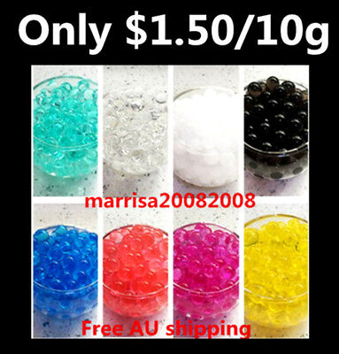 $1.50 Each Bag New Crystal Soil Water Beads 10 g Mud Jelly Gel Balls Wedding 0