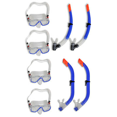 New Diving Snorkel Mask 2 Sets for Kids/Adults Scuba Silicone splash Guard Glass