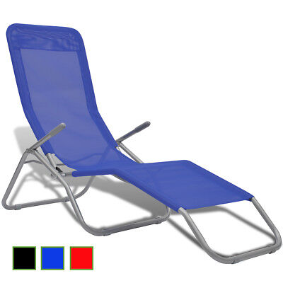 New Sunbed with Swing Frame 2 pcs Blue/Black/Red Selectable Camping Beach Garden