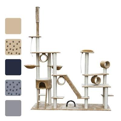 New Cat Tree Plush Pet Scratching Post Toy Deluxe 230-260 cm 5 Optional Colours