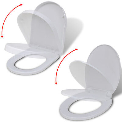 Luxury Heavy Duty Soft Close White Toilet Seat Fixing Hinges 2 Models