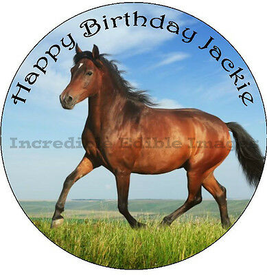 Horse Personalised Edible Cake Topper Party Decoration