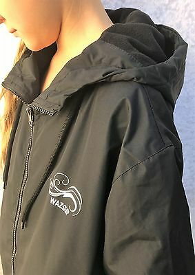 Swim Parka Wazsup Black with Black Size L  (deck coat, swim jacket, beach robe)