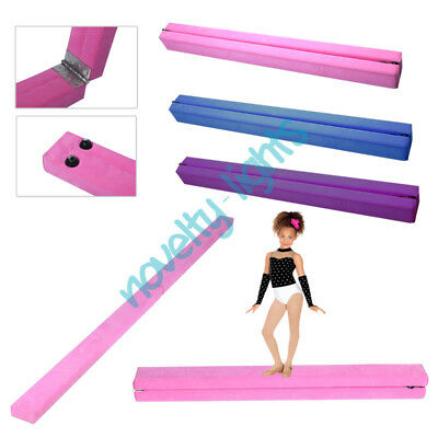 7ft Heavy Duty Folding Gymnastics Balance Beam Kids Balance Training Equipment