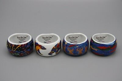 Skye Mcghie Dawn Oman Ceramic Napkin Rings Set of 4 Yellowknife Artist Canada