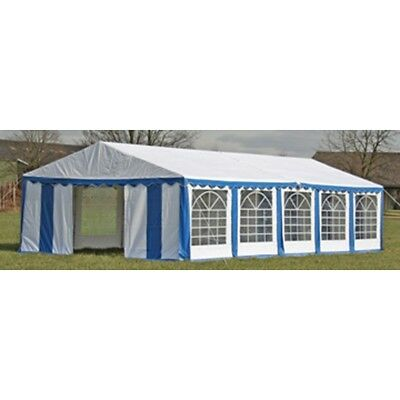 New Durable Party Tent Top Canopy Marquee and Side Panels 10 x 5 m Blue & White