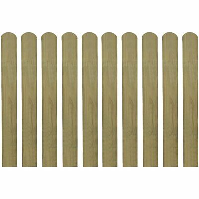 10 pcs Impregnated Pinewood Wooden Fence Slat Panel 80 cm Garden Patio Fencing