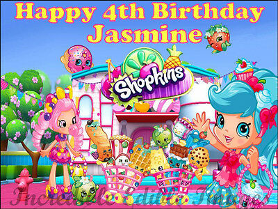 Shopkins Personalised Edible Cake Toppers Party Decoration