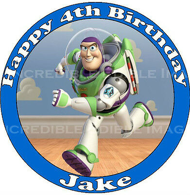 Toy Story Buzz Edible ICING Cake Topper Personalised Party Decoration