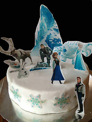 Frozen Edible Cake Decoration Set- Wafer Toppers