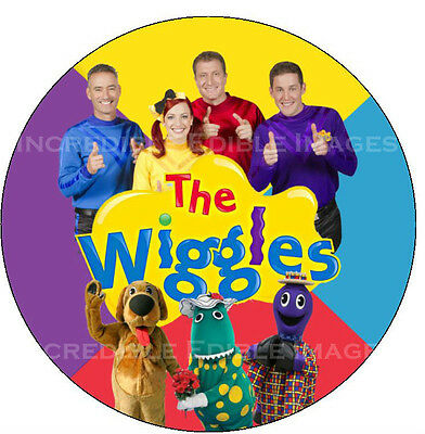 Wiggles Round Edible ICING Cake Topper Party Decoration