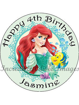 Little Mermaid Personalised Edible Cake Toppers Party Decoration