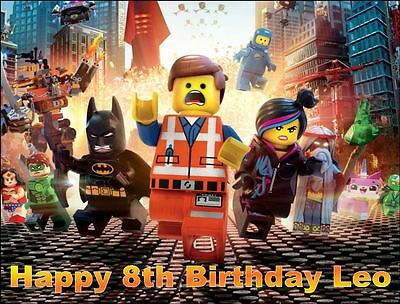 19cm x 25cm Rectangle Lego Movie Edible ICING Cake Topper