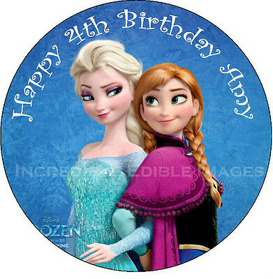 Frozen Edible Cake Topper Personalised Party Decoration