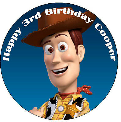 Toy Story Woody Edible ICING Cake Topper Personalised Party Decoration