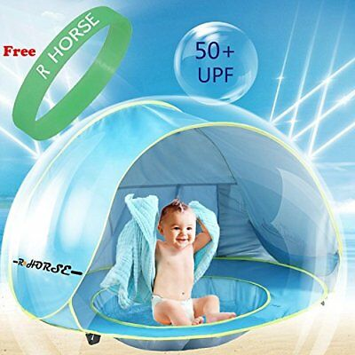 Baby Pool Tent R • HORSE Beach with and Fluorescent Wristband 50+UPF UV Sun for