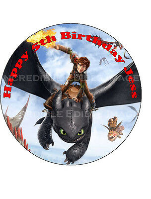 How To Train Your Dragon Edible Cake Topper Personalised Party Decoration