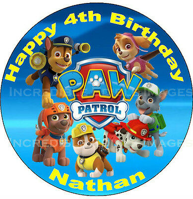 Paw Patrol Edible ICING Party Cake Decoration Topper