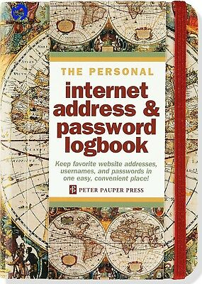 Old World Internet Address and Password Logbook Stationery Tabbed A to Z Pages