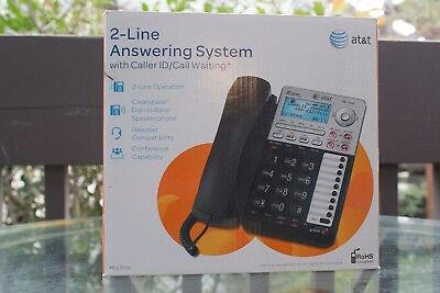 At&t 2-Line Answering System With Caller Id/call Waiting Ml17939