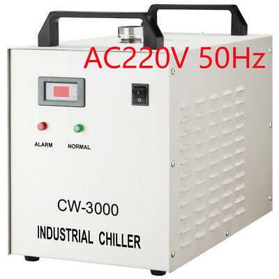 AC220V S&A CW-3000AG Industrial Water Chiller for 60W / 80W CO2 Glass Laser Tube