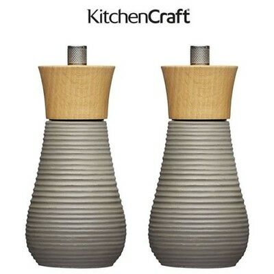 Master Class Industrial Chic Concrete Salt and Pepper Mills - Individual or Both