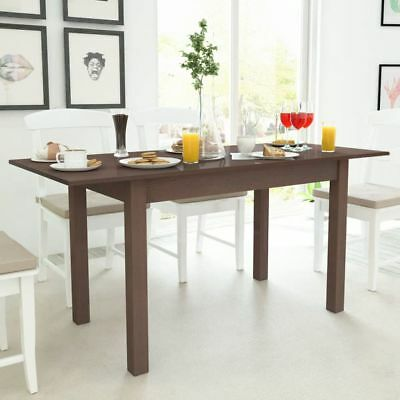 vidaXL Extending Dining Table Kitchen Furniture Dark Brown 120/160x70x76.5 cm