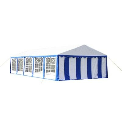 New Gazebo Party Tent Canopy Marquee Red White Stripes 4 X 8 M Windows