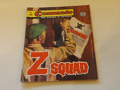 Commando War Comic Number 498,1970 Issue,v Good For Age,47 Years Old,very Rare.