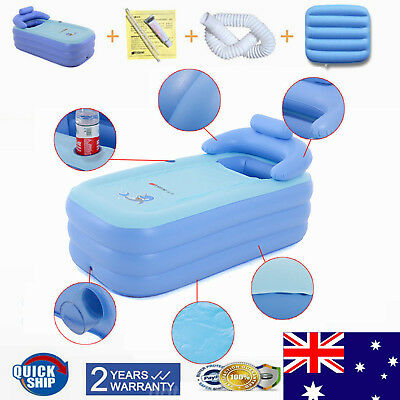 Blow up Adult Spa PVC Folding Portable Bathtub Warm Inflatable Bath Tub AU STOCK